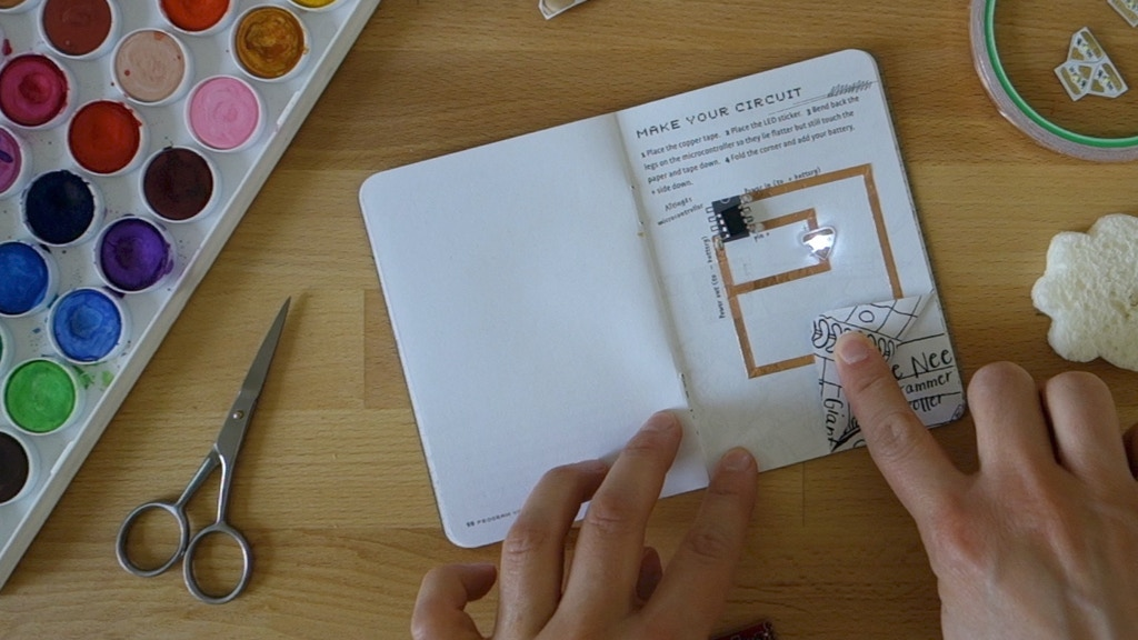 HACK YOUR NOTEBOOK - paper meets electronics project video thumbnail