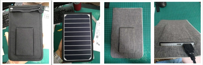 The third prototype of the removable solar charger with battery