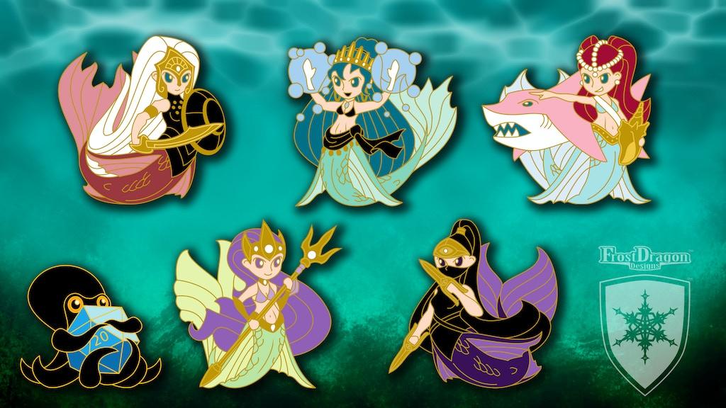 Chibi Mermaid Adventure - Hard Enamel Pin Collection project video thumbnail