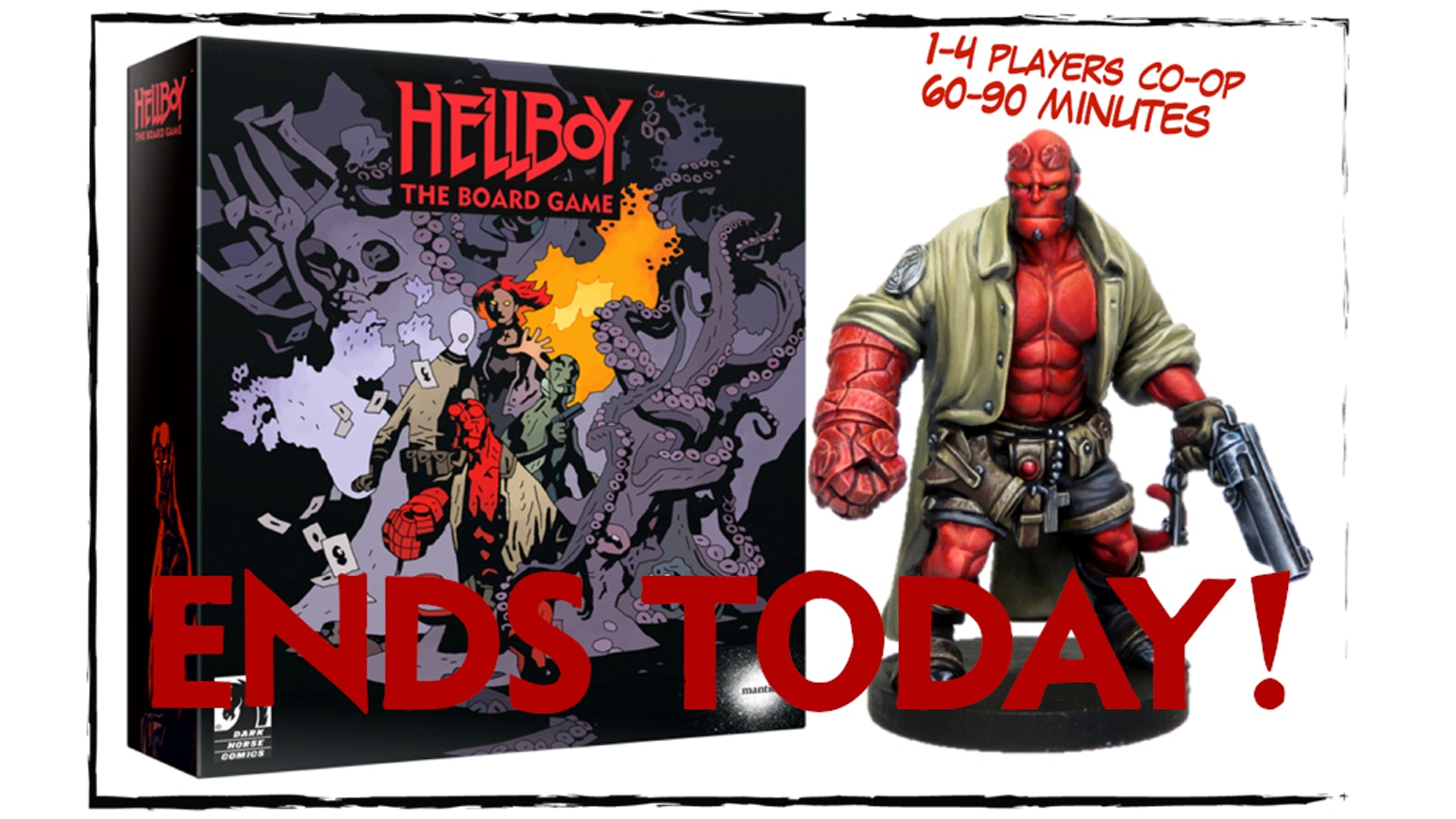 Inspired by the visionary comics by Mike Mignola, Hellboy: The Board Game is a thrilling co-operative experience for 1 to 4 players.