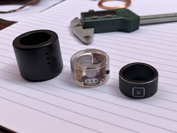 Xenxo S-Ring: Prototype (Left) : Alpha Version V2.0 (Centre) : Final-End Model (Right).