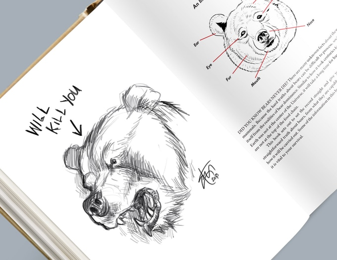 I'll draw a bear in your book with my own real hands!