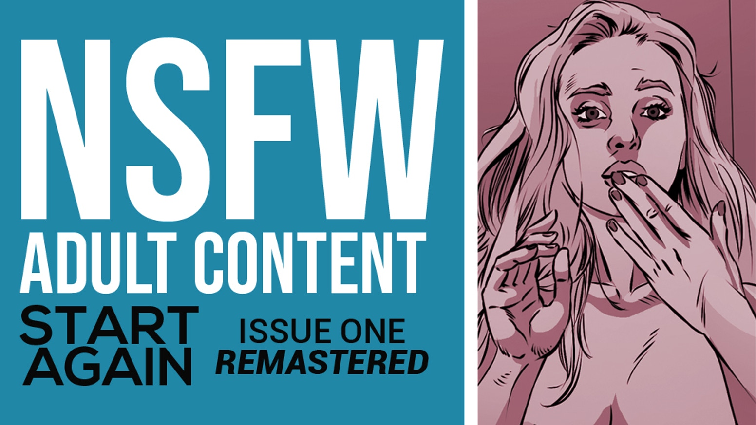 The remastered edition of the sold out superhero boy meets girl story, START AGAIN #1. NSFW.