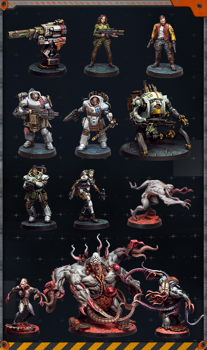 Miniatures painted by Ruben Martinez, David Arroba, and Rodrigo Cipres. NOTE THAT MINIATURES COME UNPAINTED. CLICK THE IMAGE TO SEE A HIGH RES ALBUM