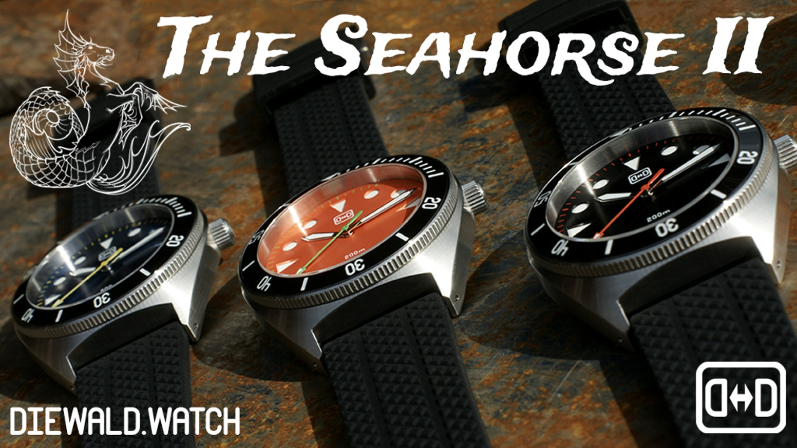 The iconic Seahorse redesigned. A great automatic divers watch of proven quality with fantastic specs at a compellingly low price.