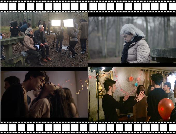 """Reportage personnalisé sur les coulisses du film : nous nous adressons à vous ! (Ci-dessus des images tirées du court-métrage et des coulisses de """"Fortaque"""" réalisé par Thomas Tessier)"""