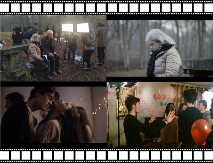 """Personalized documentary on the film's backstage : we address ourselves to you ! (Above, backstage and still photos of the musical short film """"Fortaque"""" directed by Thomas Tessier)"""