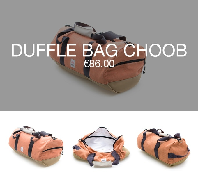 Pledge €86 or more and receive a Thank You + 1 duffle bag CHOOB at 40% discount (RRP ±€143).