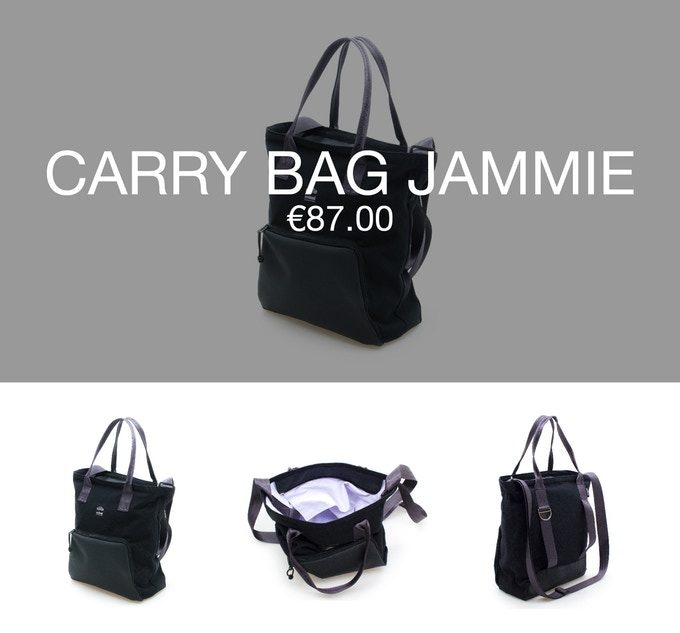 Pledge €87 or more and receive a Thank You + 1 carry bag JAMMIE at 40% discount (RRP ±€145).