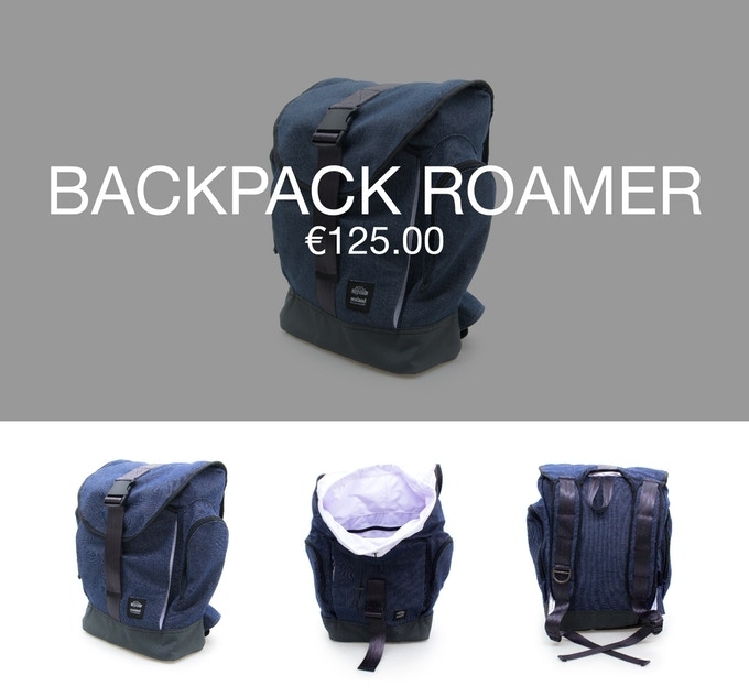 Pledge €125 or more and receive a Thank You + 1 backpack ROAMER at 40% discount (RRP ±€209).