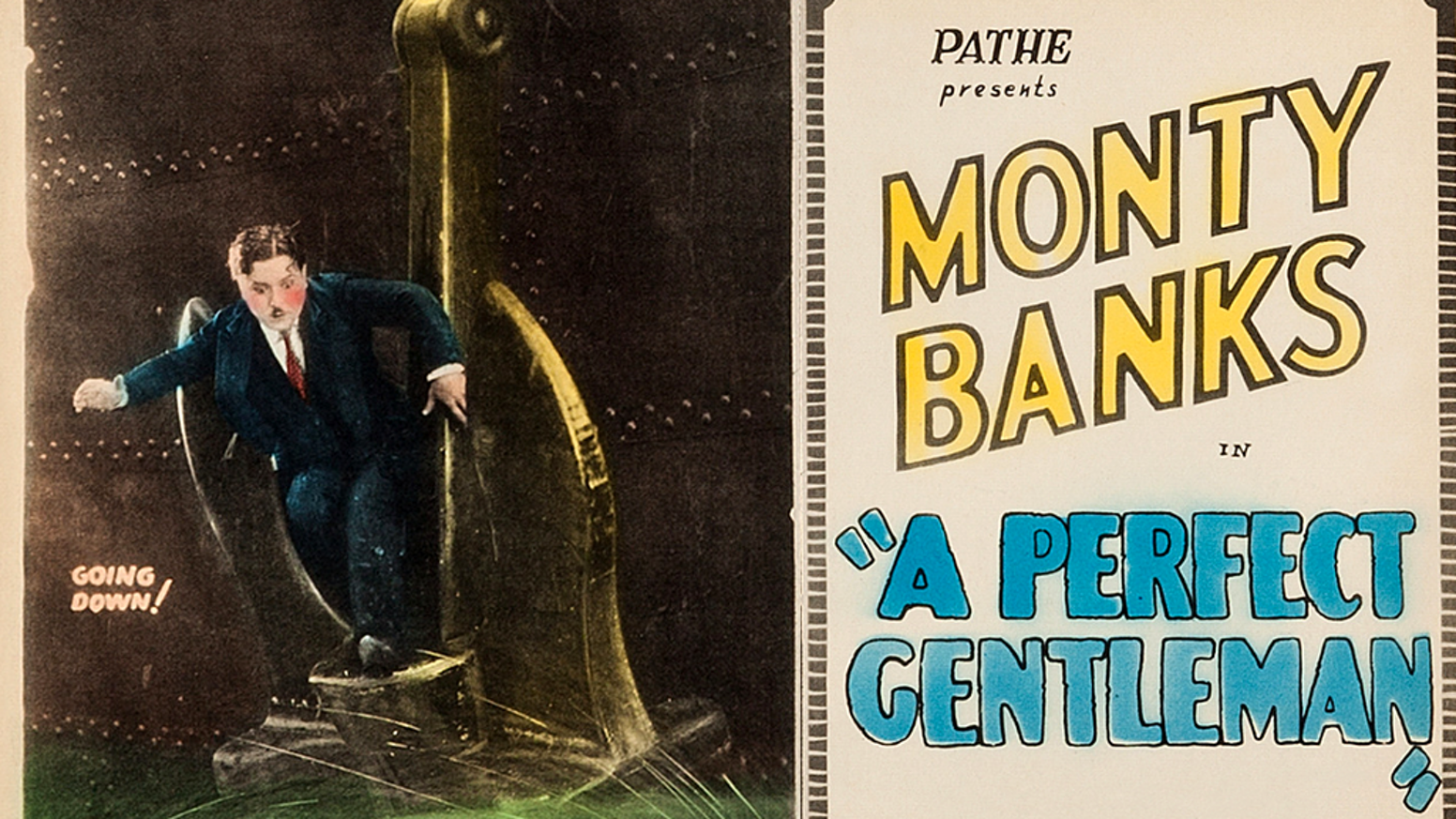 Monty Banks in the 1928 comedy feature A PERFECT GENTLEMAN  plus two Monty Banks comedy shorts on DVD and Blu-ray!