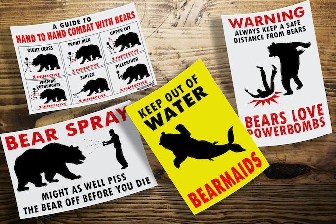 Bear Safety Sticker Pack
