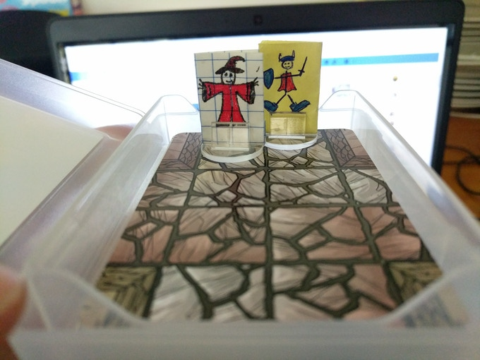 A tiny example of papercraft Mini's in action