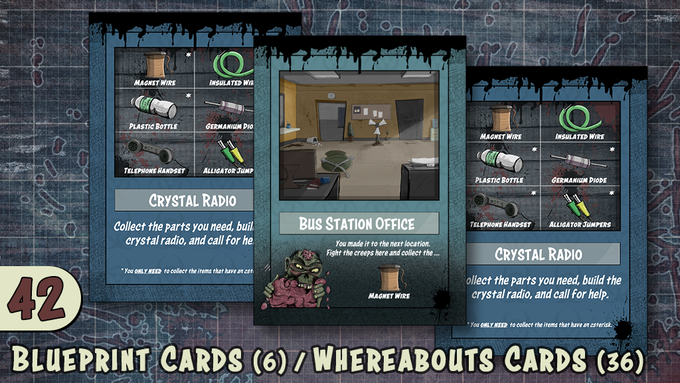 6 Blueprint Cards / 36 Whereabouts Cards