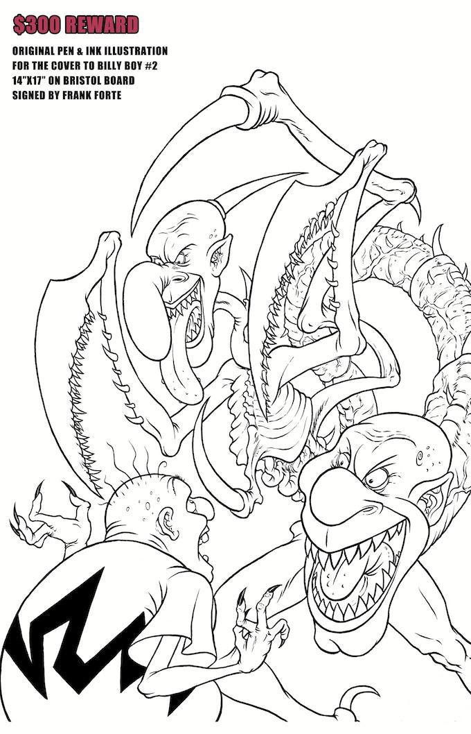 $300 REWARD Billy Boy #2 cover illustration