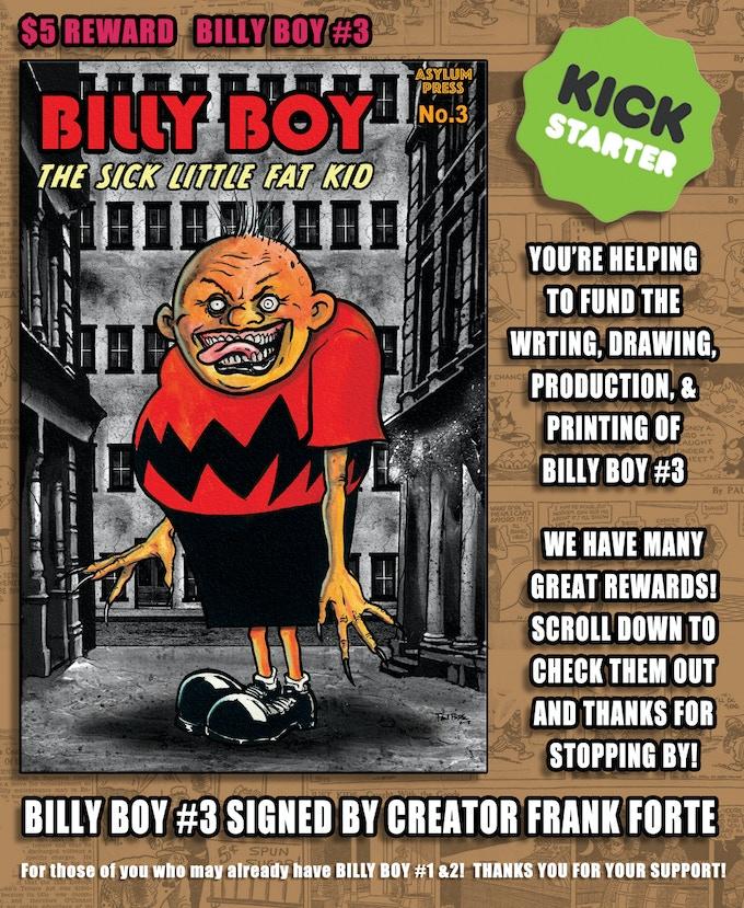 $5 REWARD BILLY BOY #3