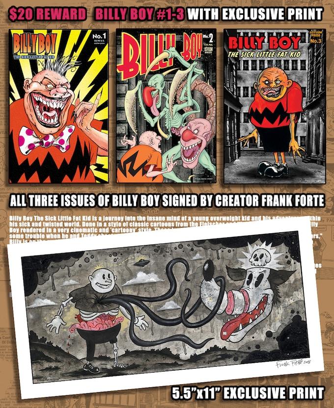 $20 REWARD--BILLY BOY1-3 w/ PRINT