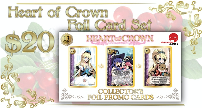 Comes with 13 Cards, 6 Princesses, 6 Alt Art Princesses and 1 Outskirt Card