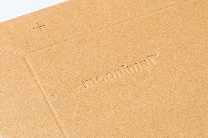 Embossed moonimal logo