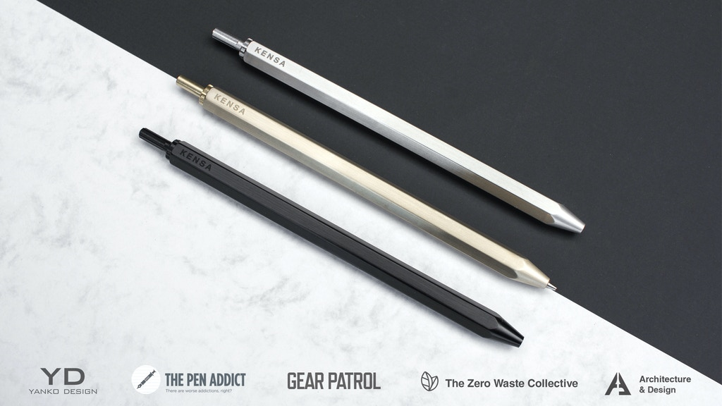 Kensa - The Pen & Pencil. Slim, Hexagonal & Made to Last. project video thumbnail