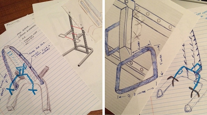Early Concept Drawings of the SCULPTAFIT All-In-One Fitness System