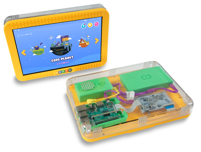 Designed to inspire MakePad is a 10.1″ touchscreen display tablet that will bloom children's interest & knowledge of computer science.