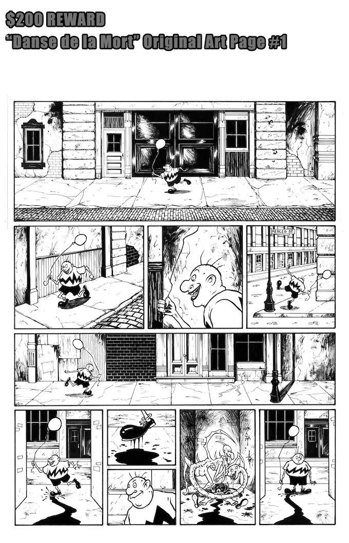 Danse de la Mort Original Art Page #1