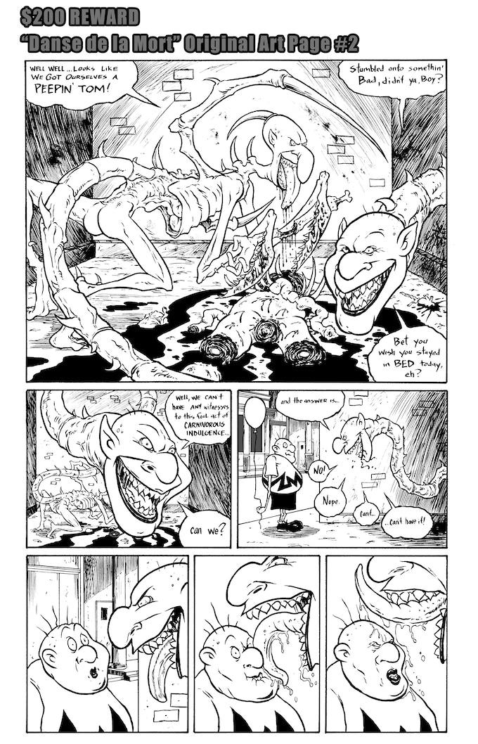 Danse de la Mort Original Art Page #2