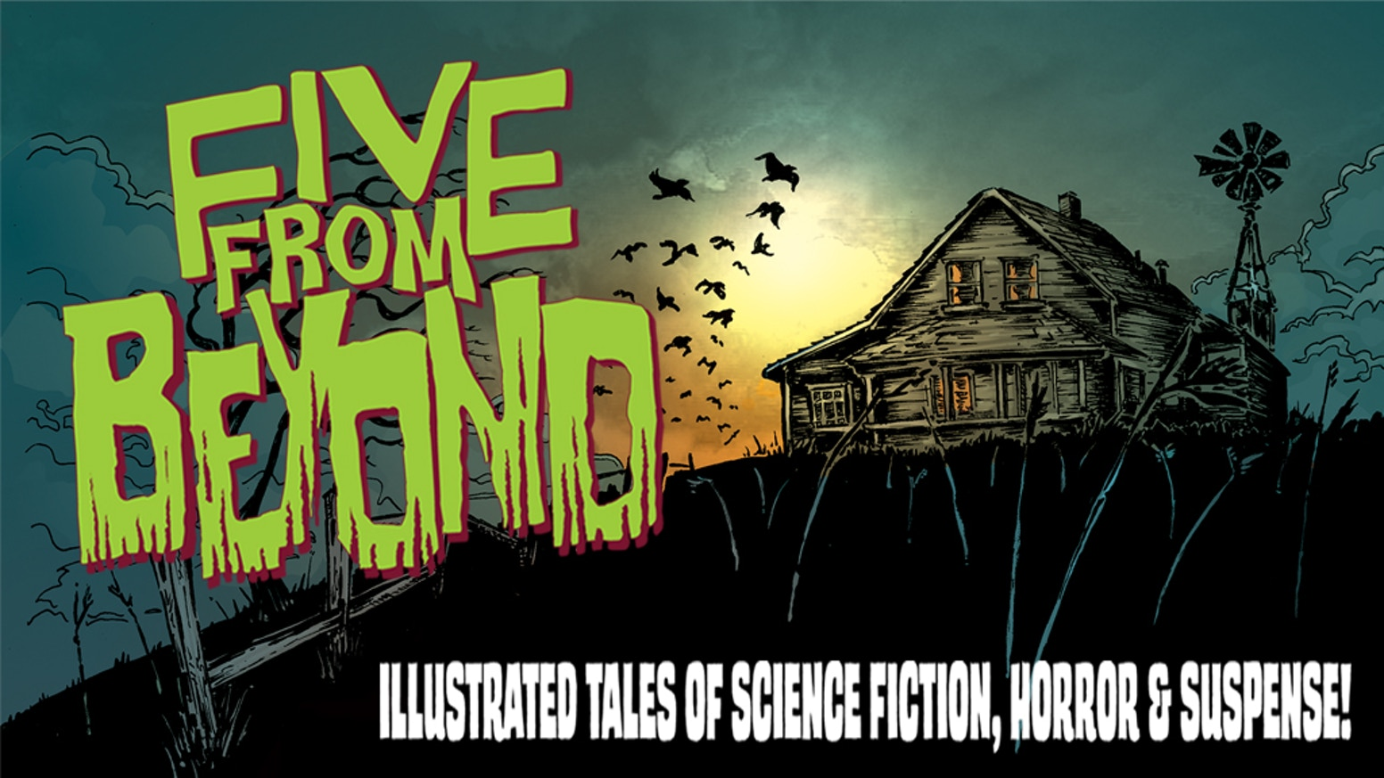 A 5 story, 48 page comic inspired by classic pulp magazines like Creepy, Eerie and Tales From the Crypt!