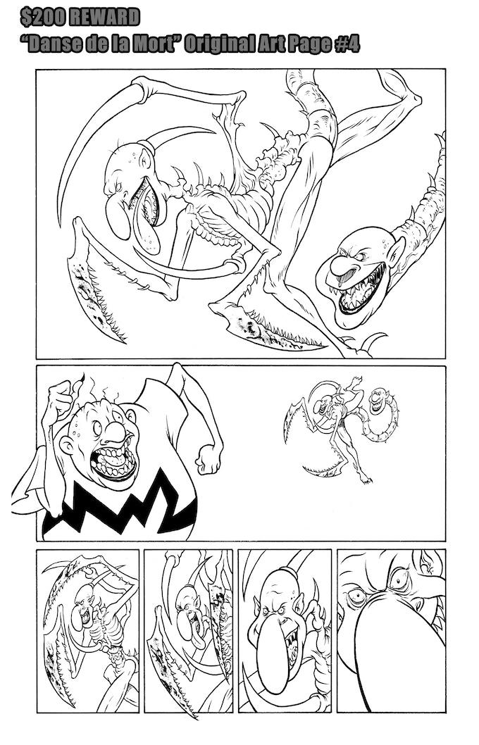 Danse de la Mort Original Art Page #4