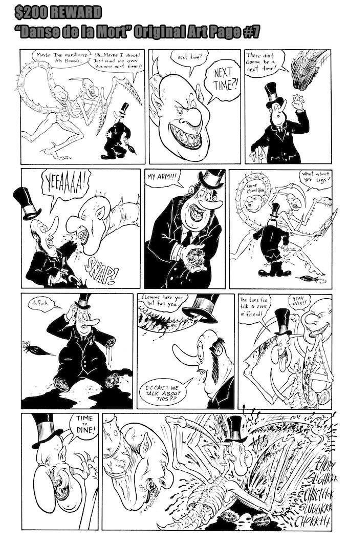 Danse de la Mort Original Art Page #7