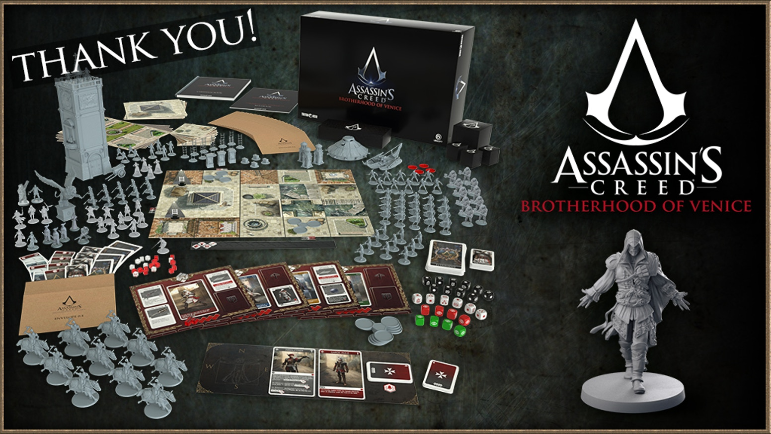 The story driven cooperative miniatures board game in the Assassin's Creed® universe