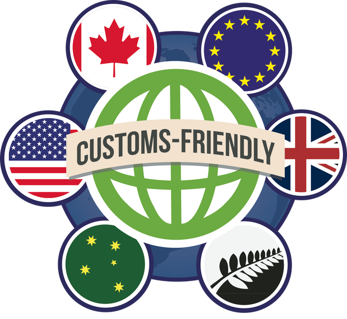 This campaign includes customs friendly shipping — see the FAQs for more info!