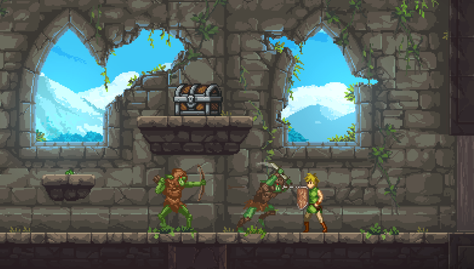 Combat in The Castle Ruins