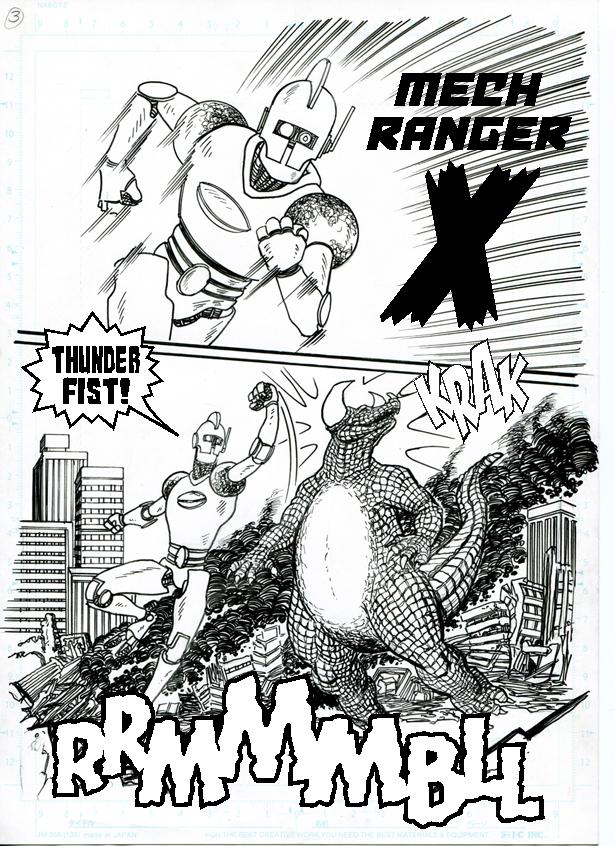 Joe Rosas anime monster slug fest. Big monsters, going down.....HARD!!