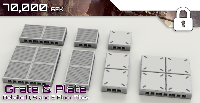 We are now working towards these bonus floor tile types, a grate and plate style in I, S and E tiles