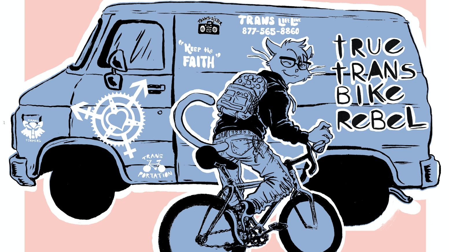 A feminist bicycle zine about riding across—or beyond—the gender binary.