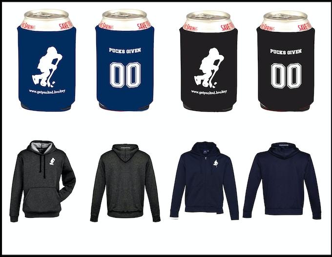 Koozies and hoodies for reward