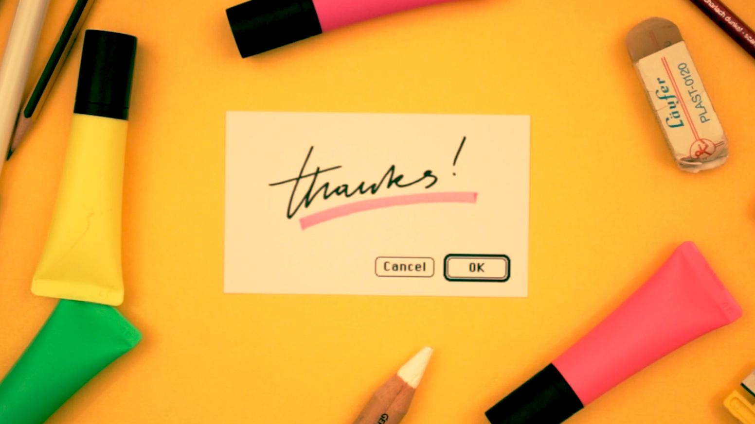 …handwritten Pop-Up-Notifications everywhere!