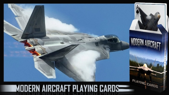 Modern Aircraft Playing Cards & Companion Booklet