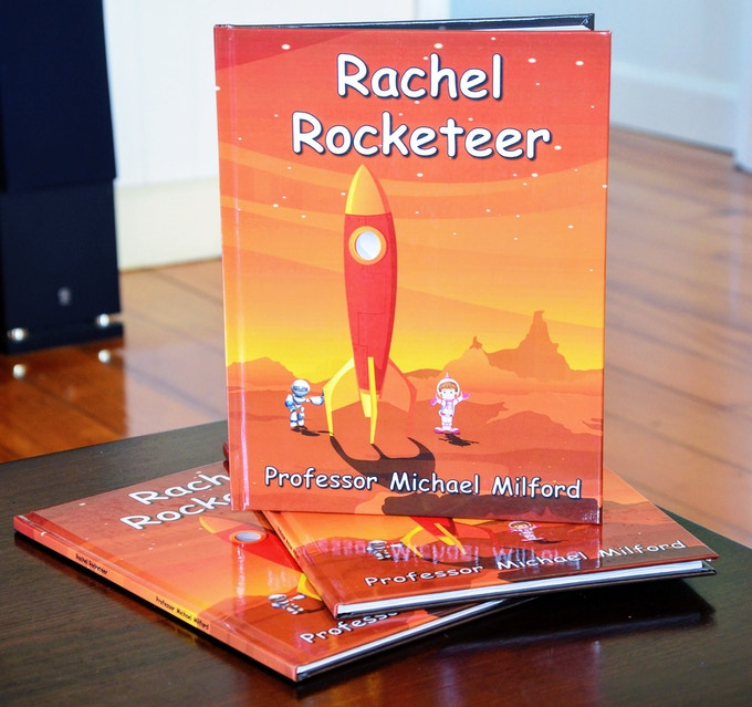 Test Hardcover Print Copies of Rachel Rocketeer