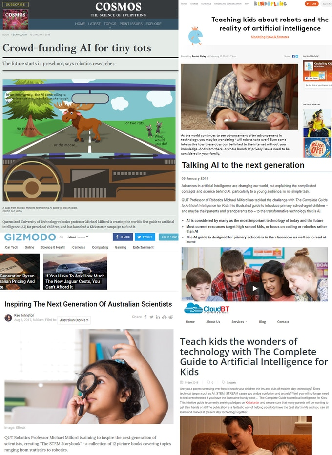 Recent media coverage of our STEM Storybook line