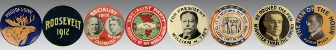 Presidential Election and Progressive Era, Political Buttons
