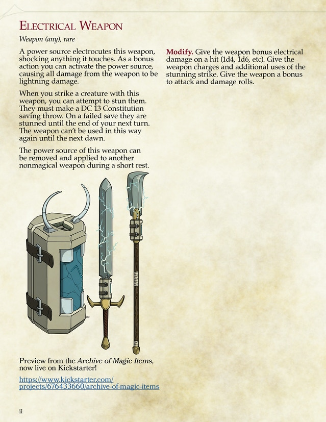 Archive of Magic Items for 5th Edition by Tim Gonzalez — Kickstarter