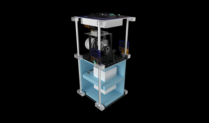Microgravity Experiment Standardized Chassis Render