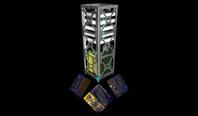 CubeSat Standardized Chassis Render