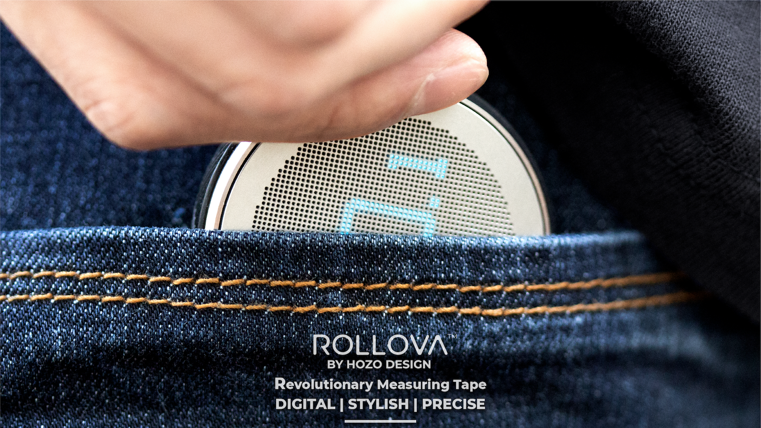 ROLLOVA! The World's First Compact Digital Rolling Ruler