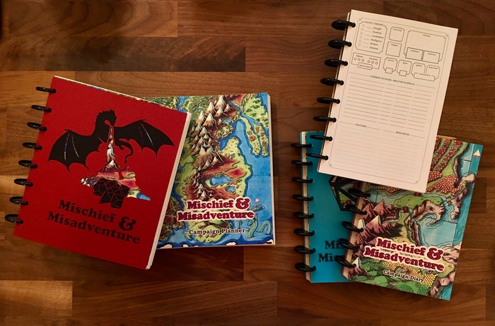 Customizable disc-bound notebooks specifically designed to help you plan and play your favorite tabletop RPGs
