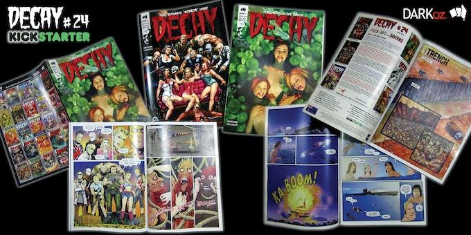 printer 'proof' copies of DECAY #24