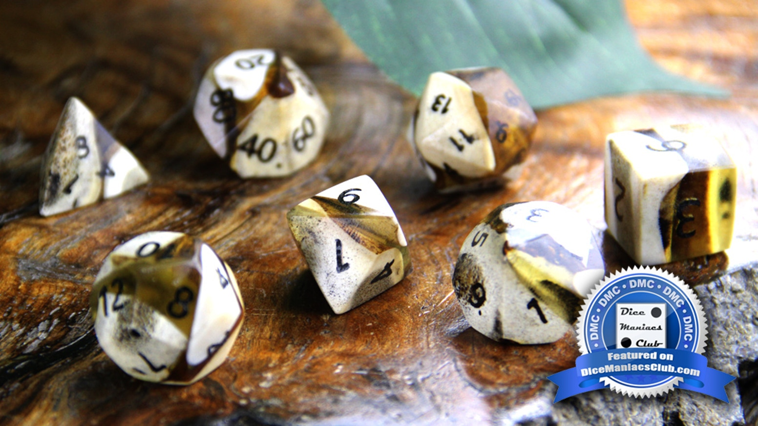 High quality dice crafted in a wide variety of rare woods and exotic natural materials. Backed by a lifetime guarantee.